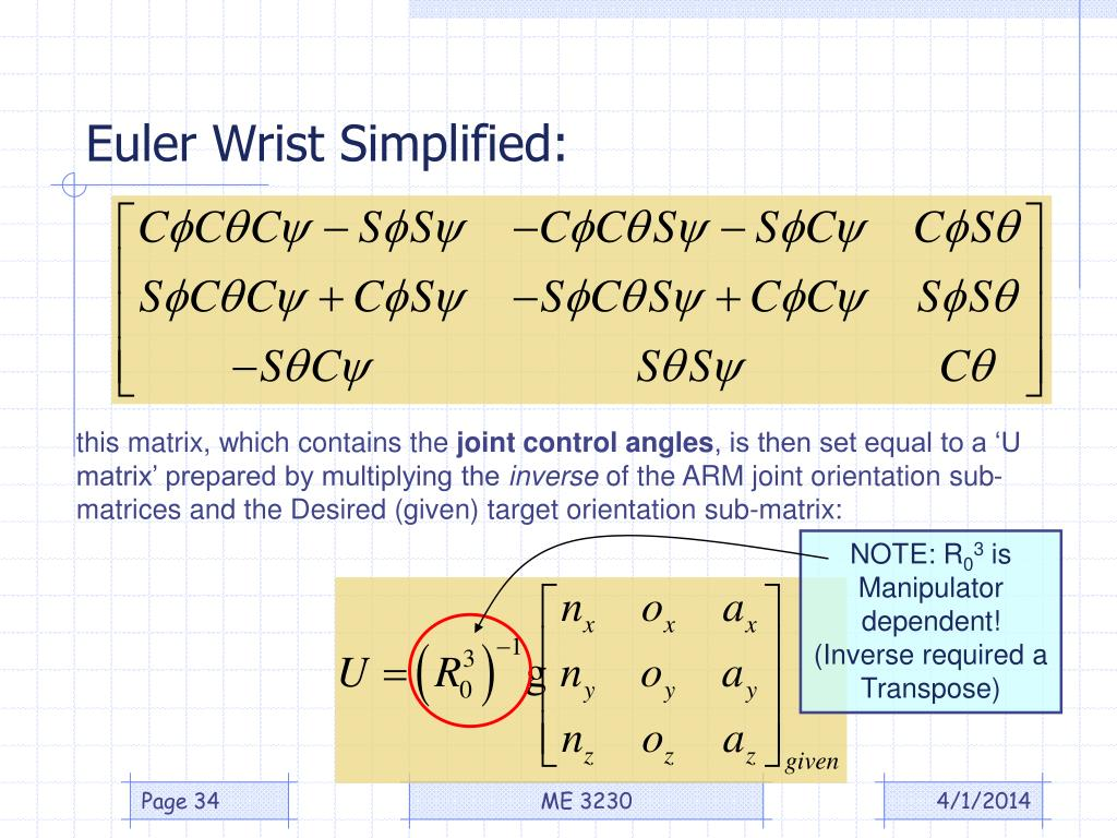 Euler Wrist Simplified: