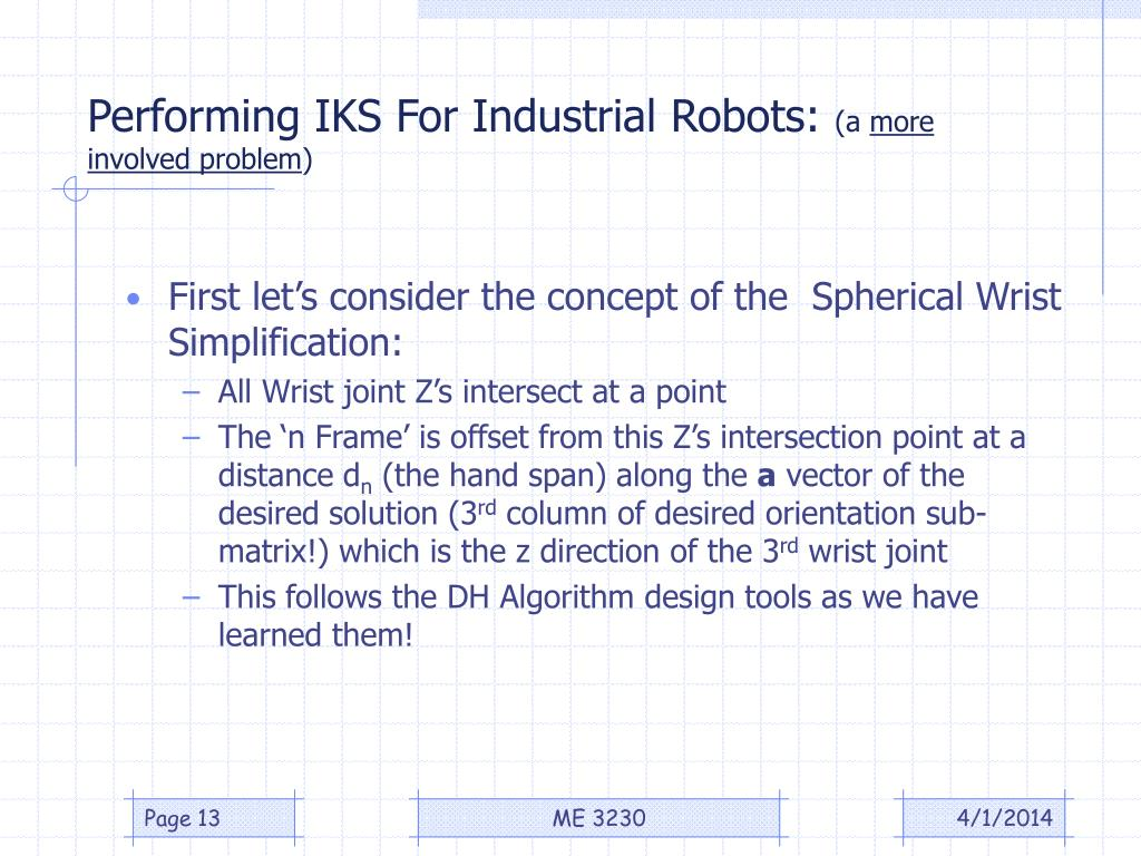 Performing IKS For Industrial Robots: