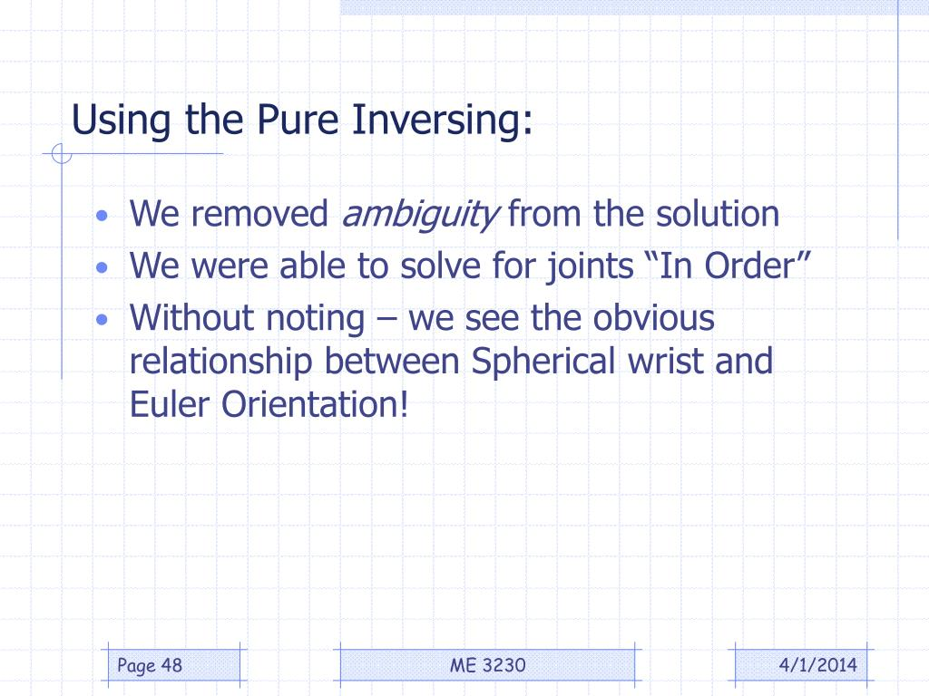 Using the Pure Inversing: