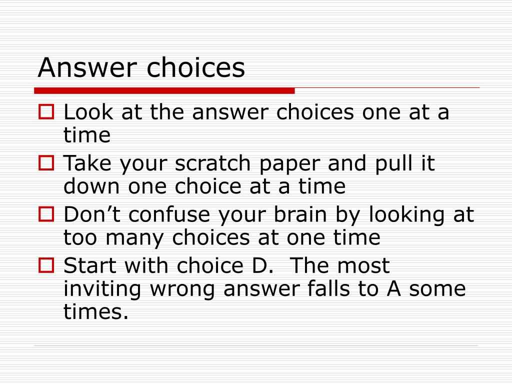 Answer choices