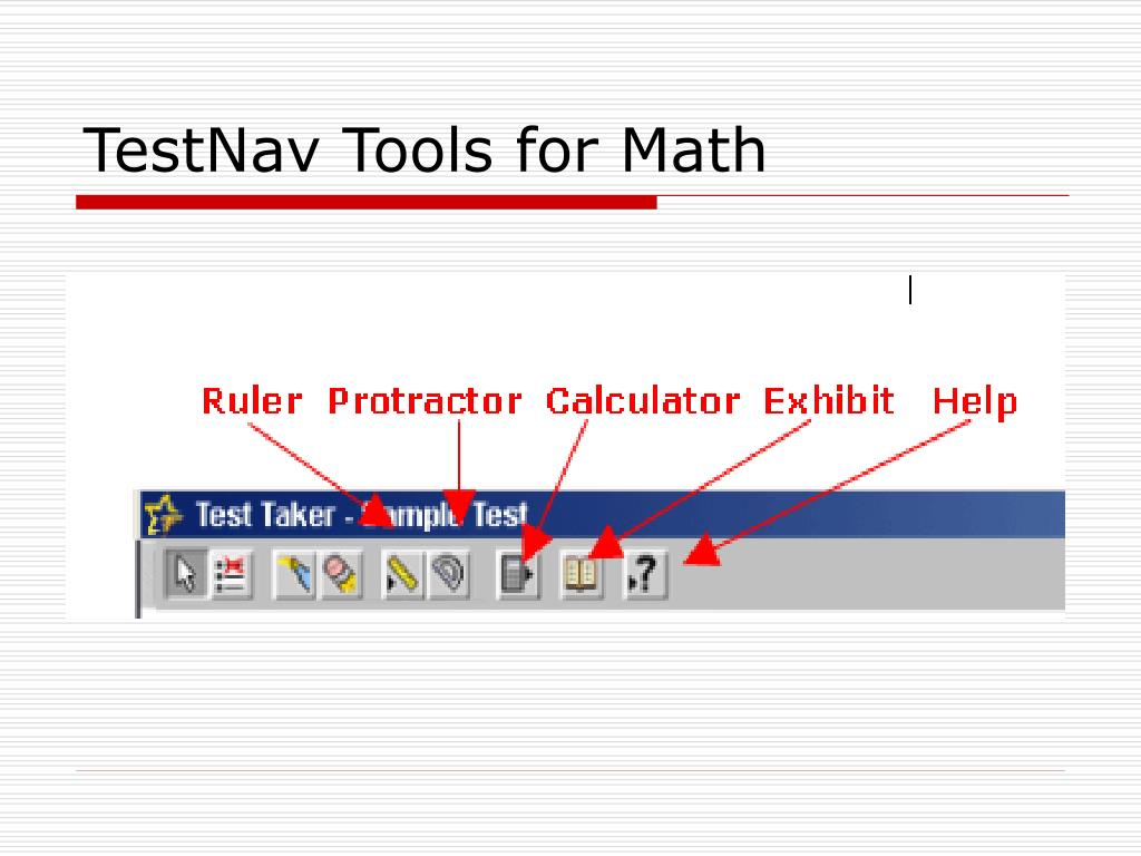 TestNav Tools for Math