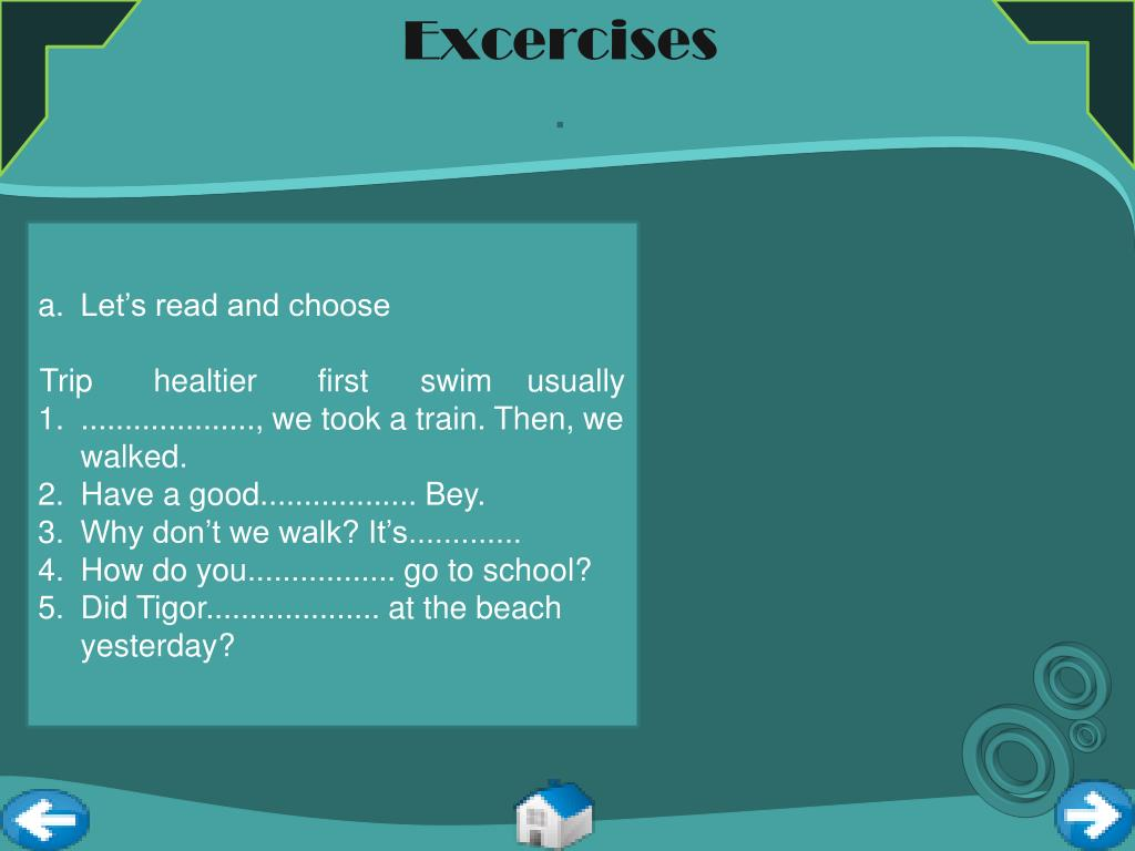 Excercises