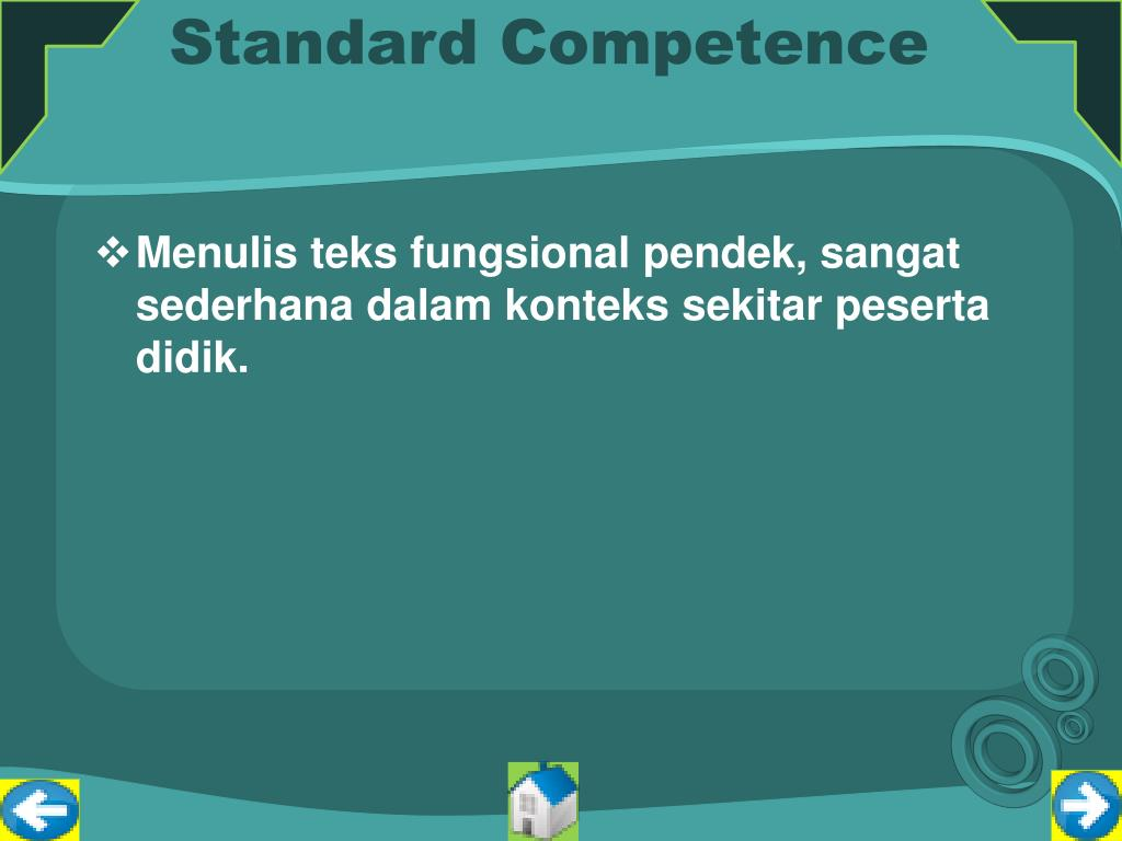 Standard Competence