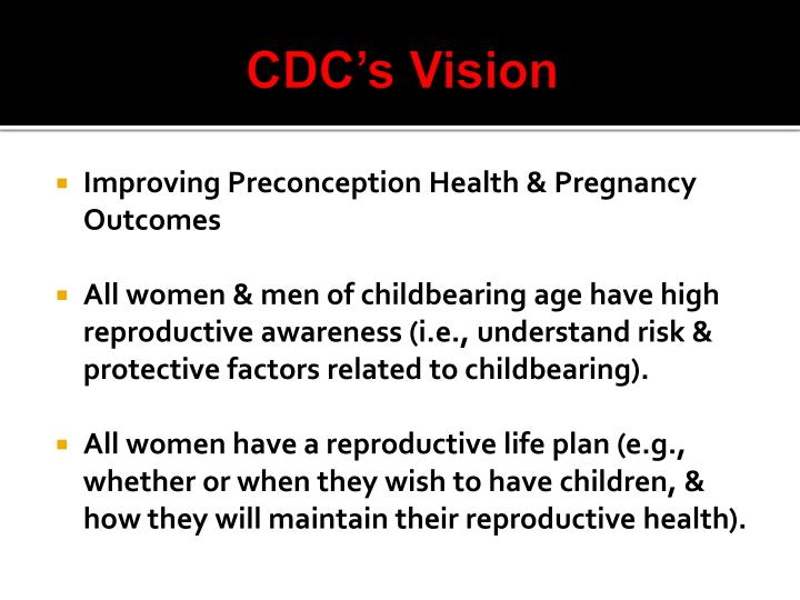 CDC's Vision