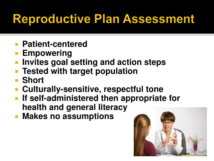 Reproductive Plan Assessment