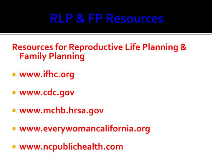 RLP & FP Resources