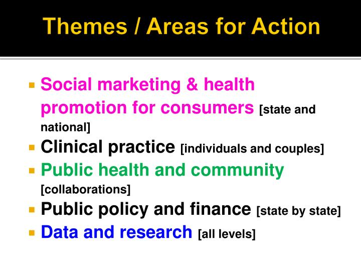 Themes / Areas for Action