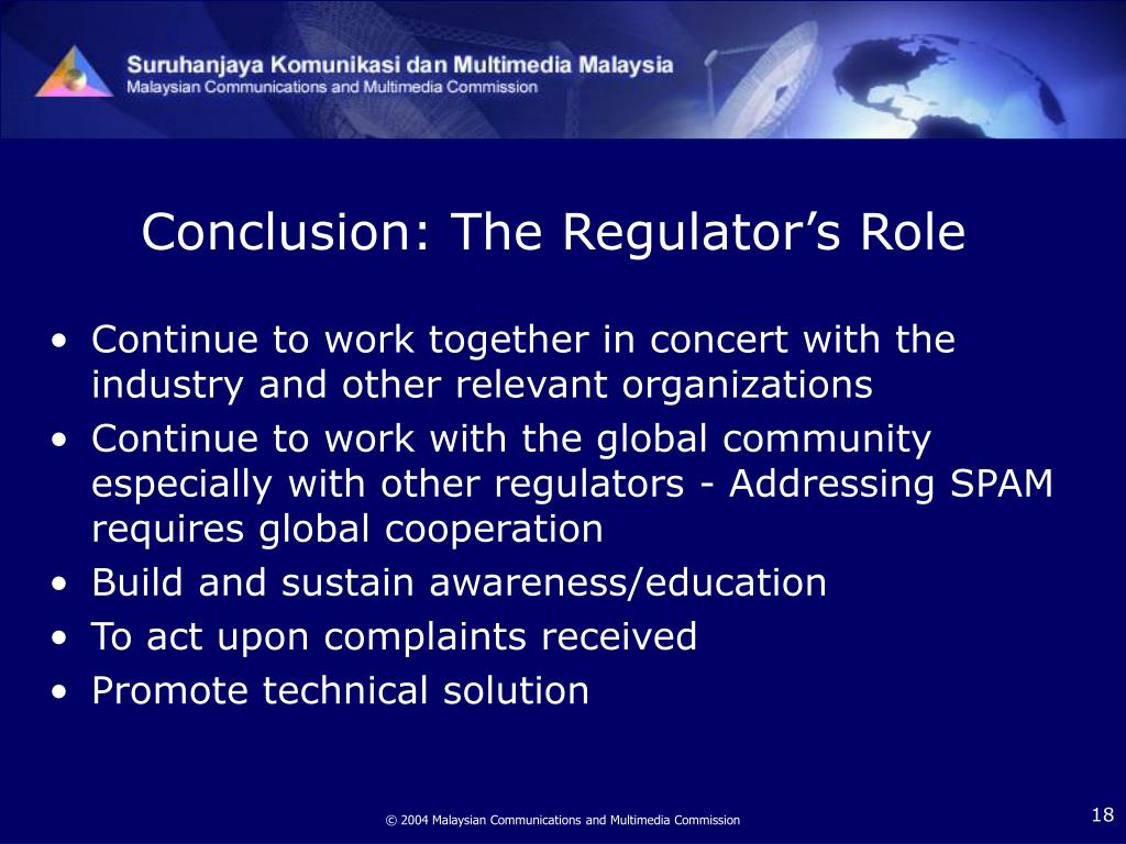 Conclusion: The Regulator's Role
