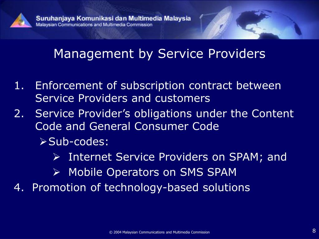 Management by Service Providers