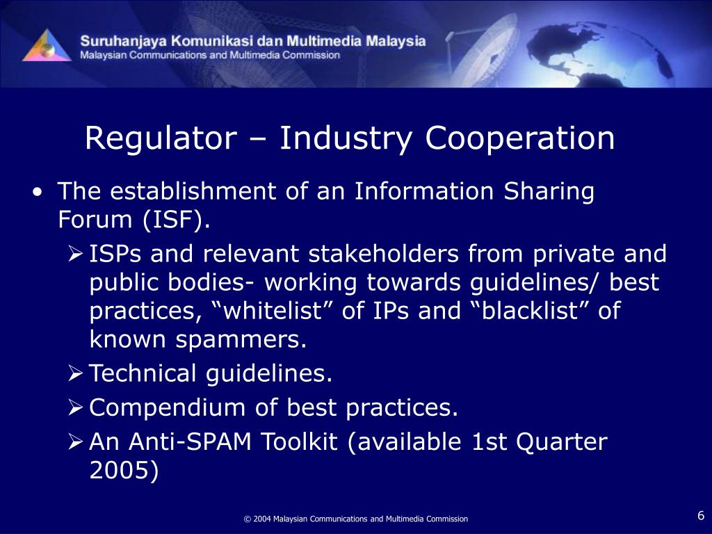Regulator – Industry Cooperation