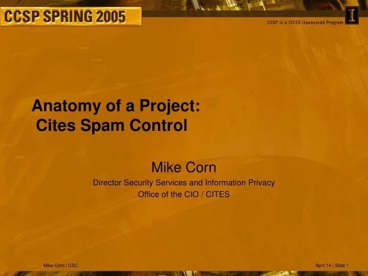 Anatomy of a project cites spam control