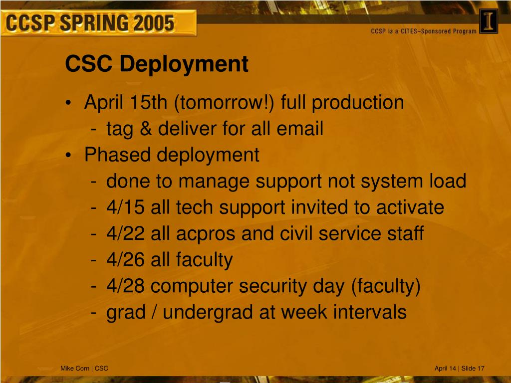 CSC Deployment