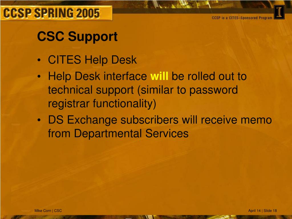 CSC Support