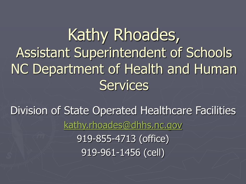Kathy Rhoades,