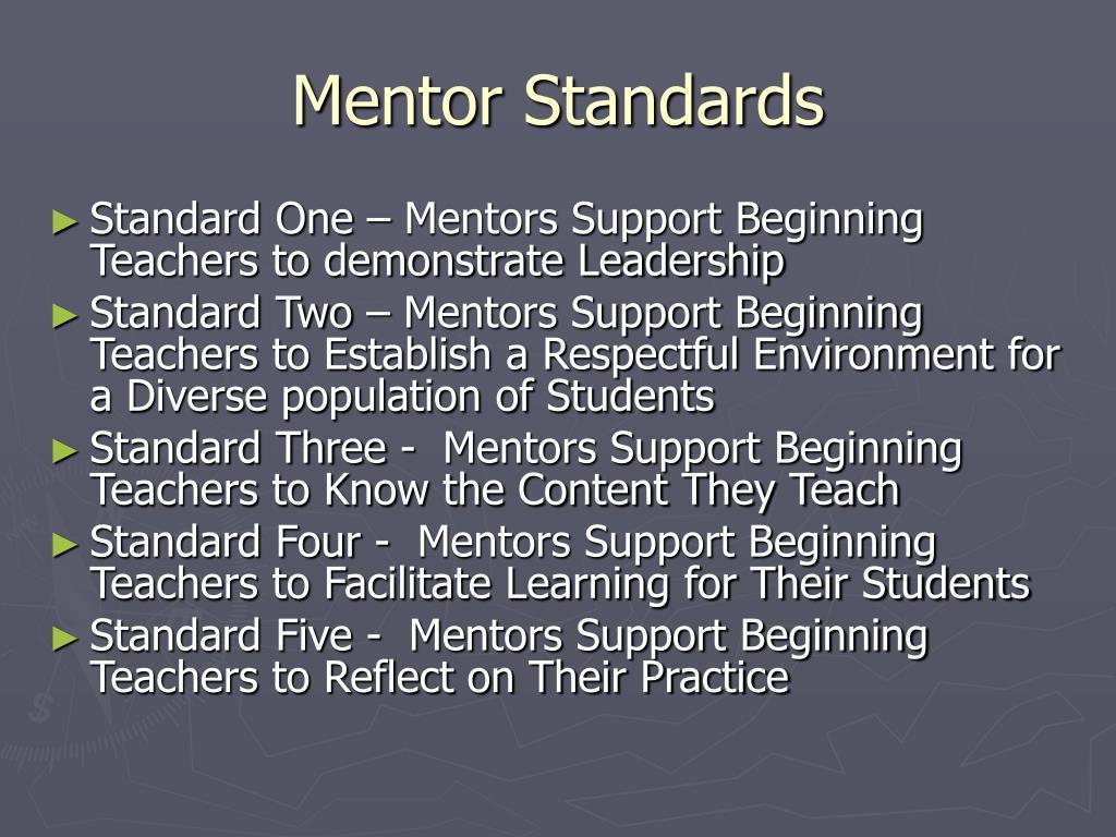 Mentor Standards