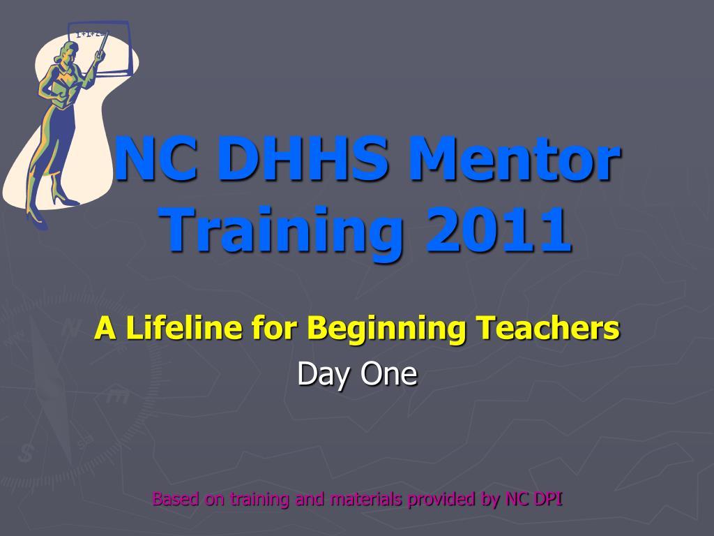 NC DHHS Mentor Training 2011