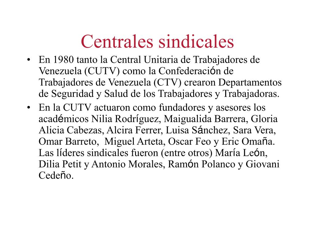 Centrales sindicales