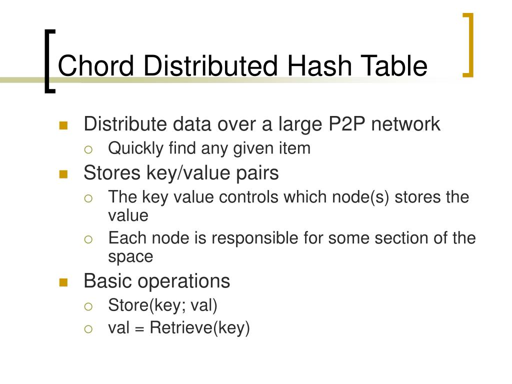 Chord Distributed Hash Table