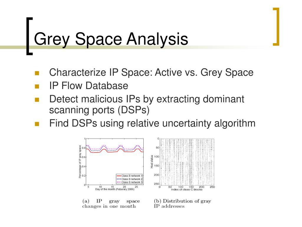 Grey Space Analysis