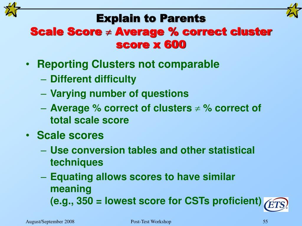 Explain to Parents