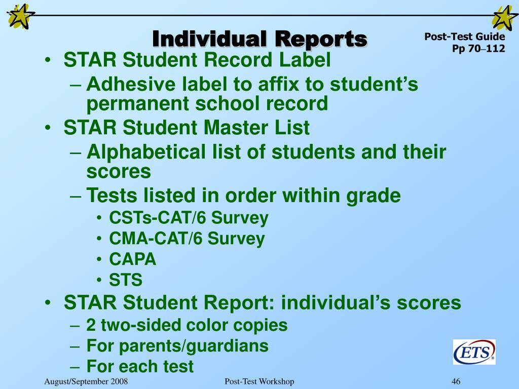 Individual Reports