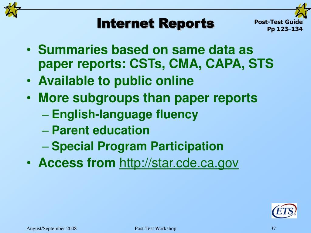 Internet Reports