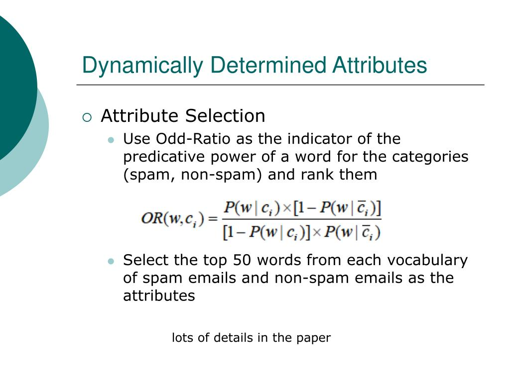Dynamically Determined Attributes