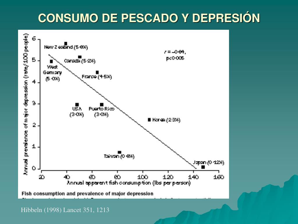 CONSUMO DE PESCADO Y DEPRESIÓN