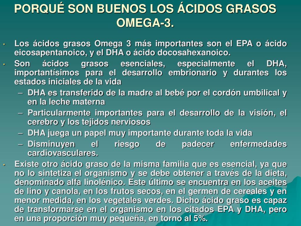 PORQUÉ SON BUENOS LOS ÁCIDOS GRASOS OMEGA-3.