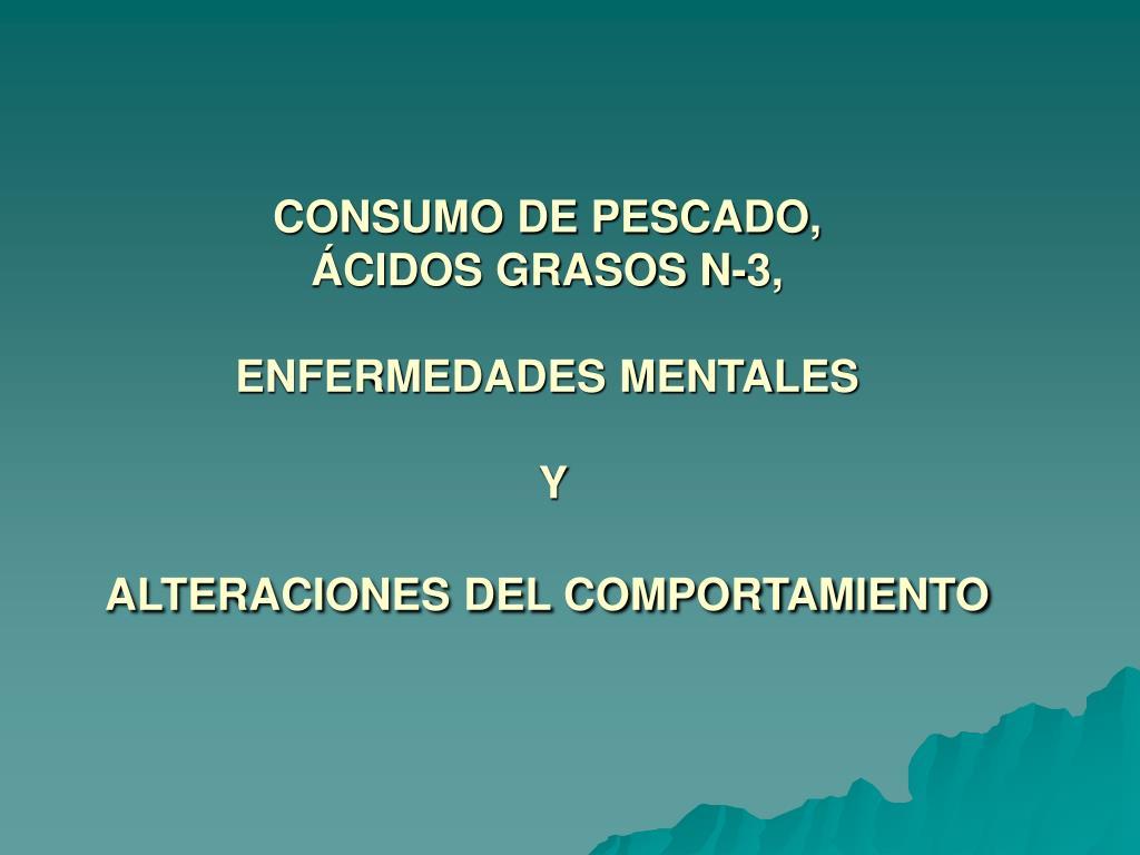 CONSUMO DE PESCADO,