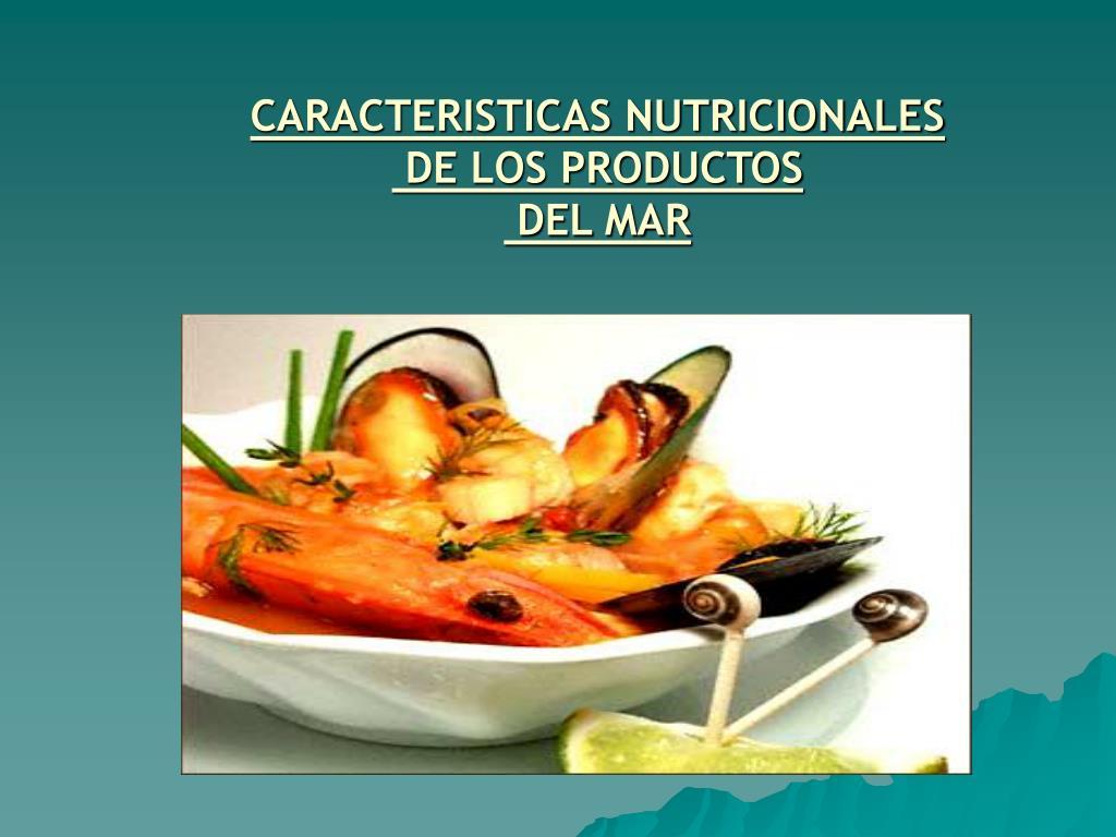 CARACTERISTICAS NUTRICIONALES