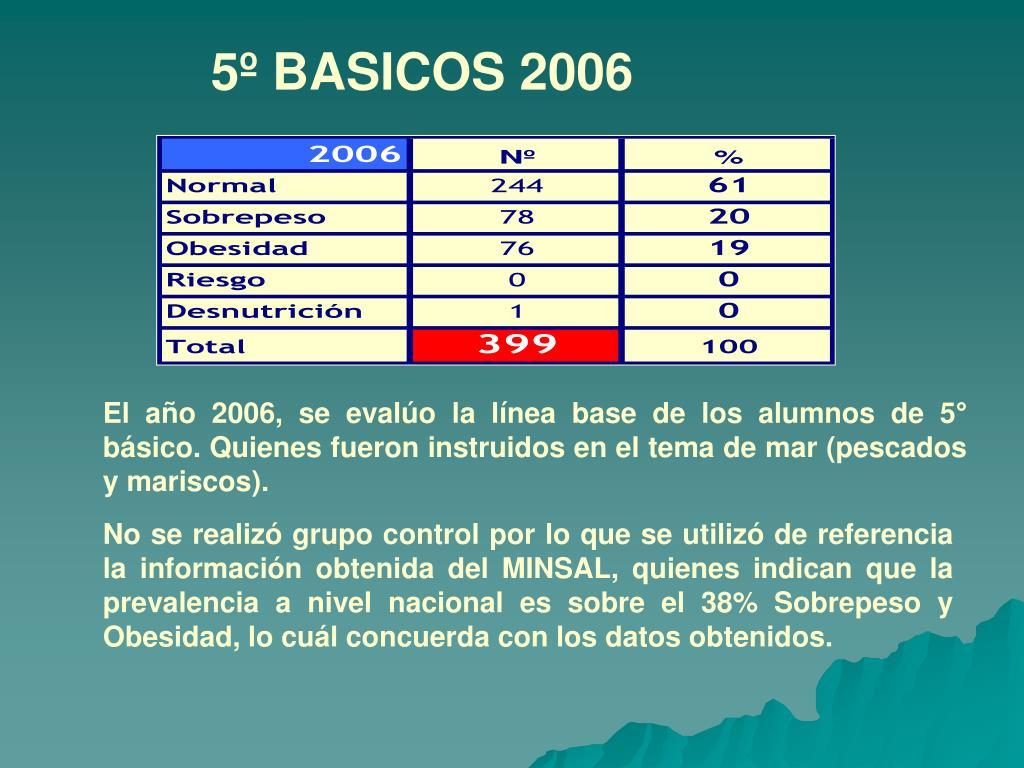 5º BASICOS 2006