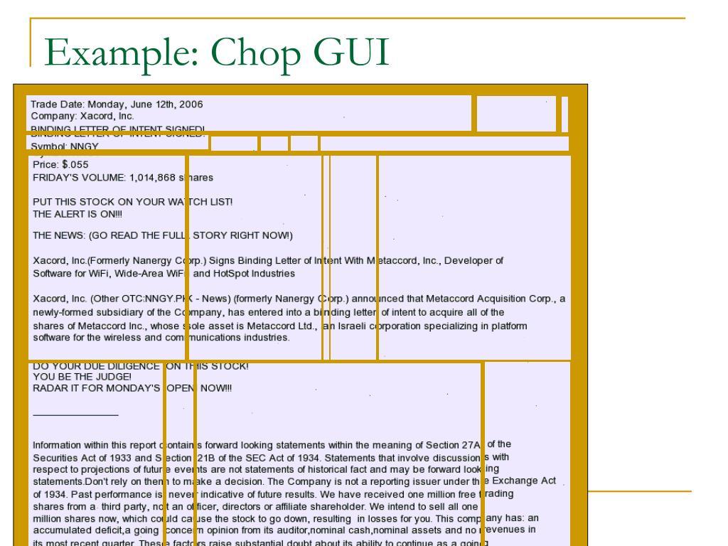 Example: Chop GUI