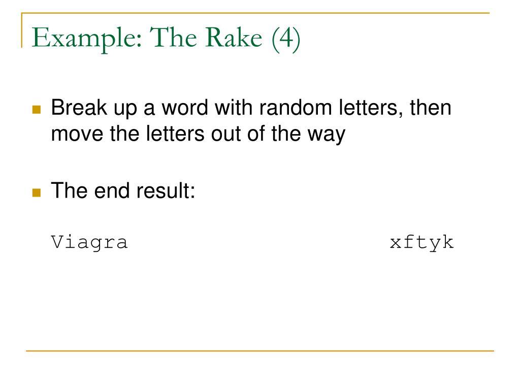 Example: The Rake (4)
