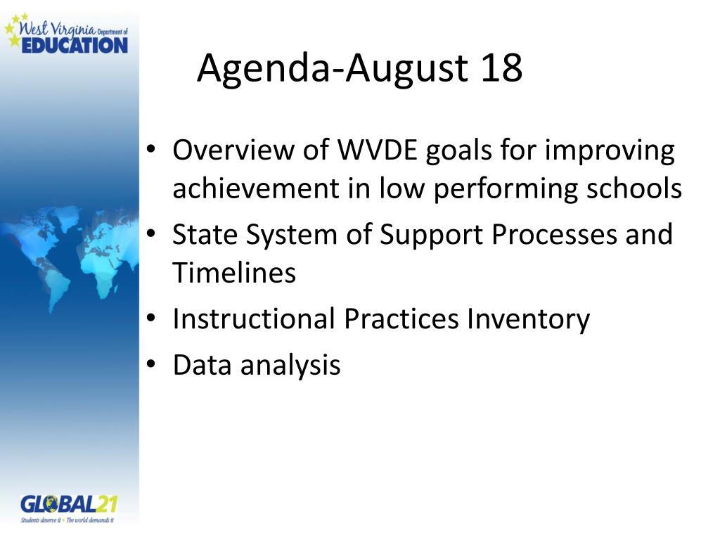 Agenda-August 18