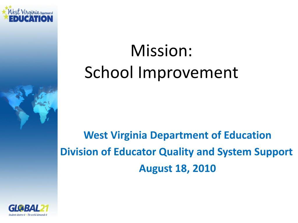 mission school improvement