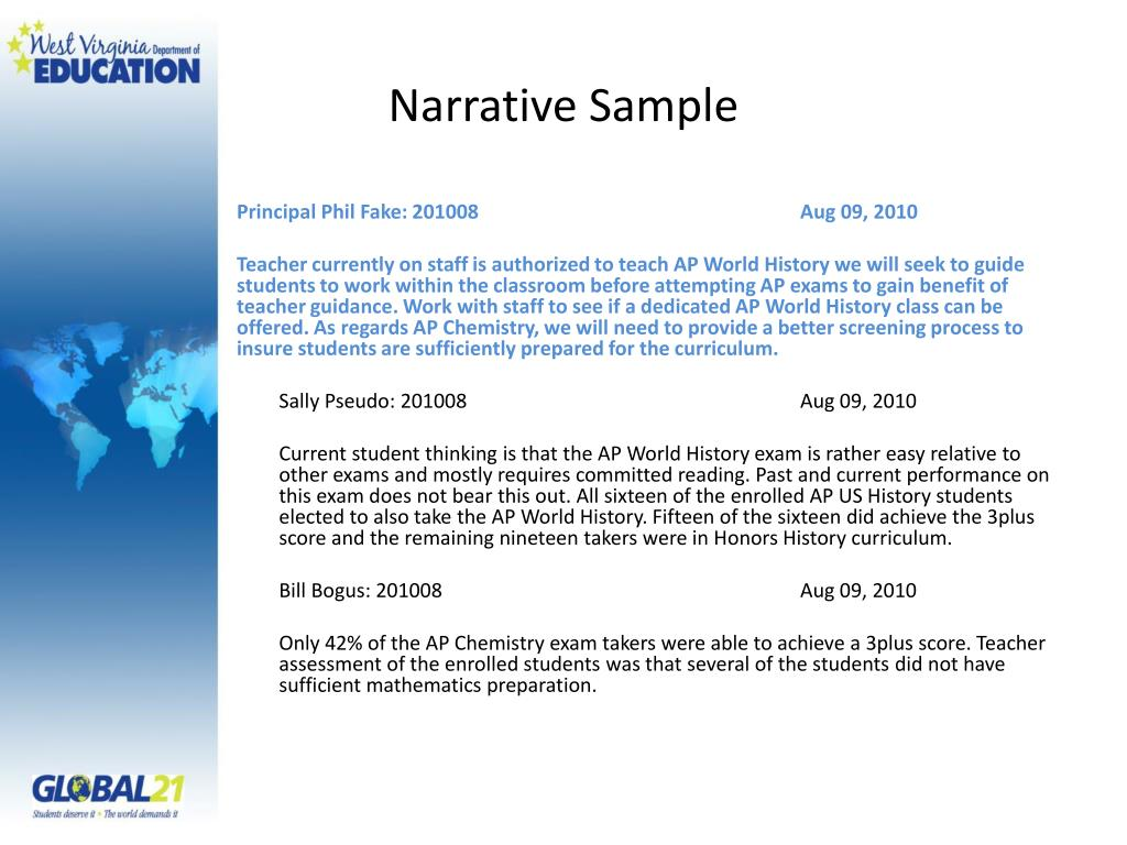 Narrative Sample