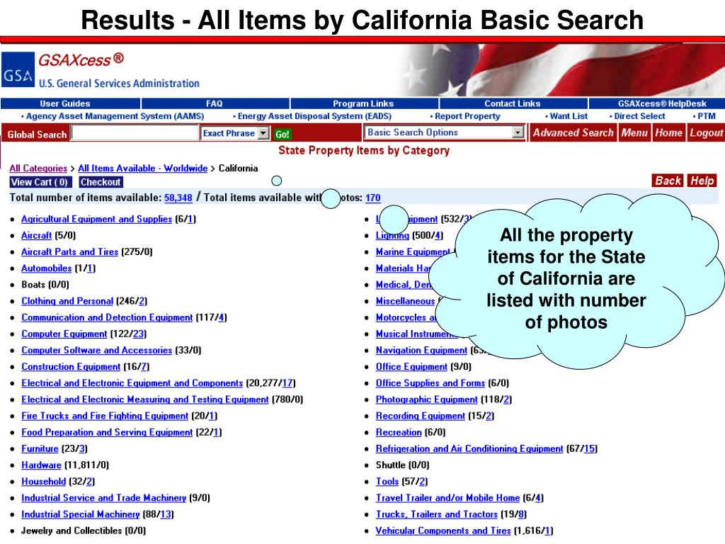 Results - All Items by California Basic Search