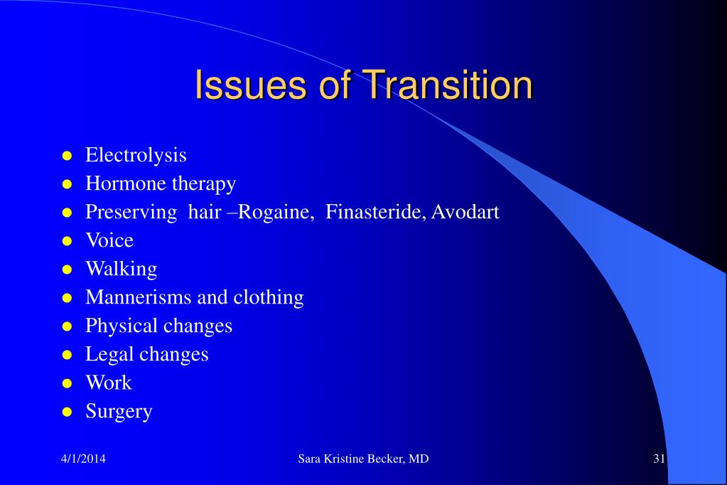 Issues of Transition