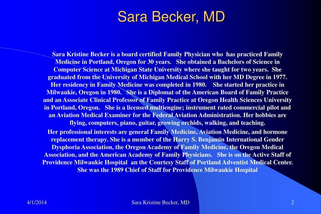 Sara Becker, MD