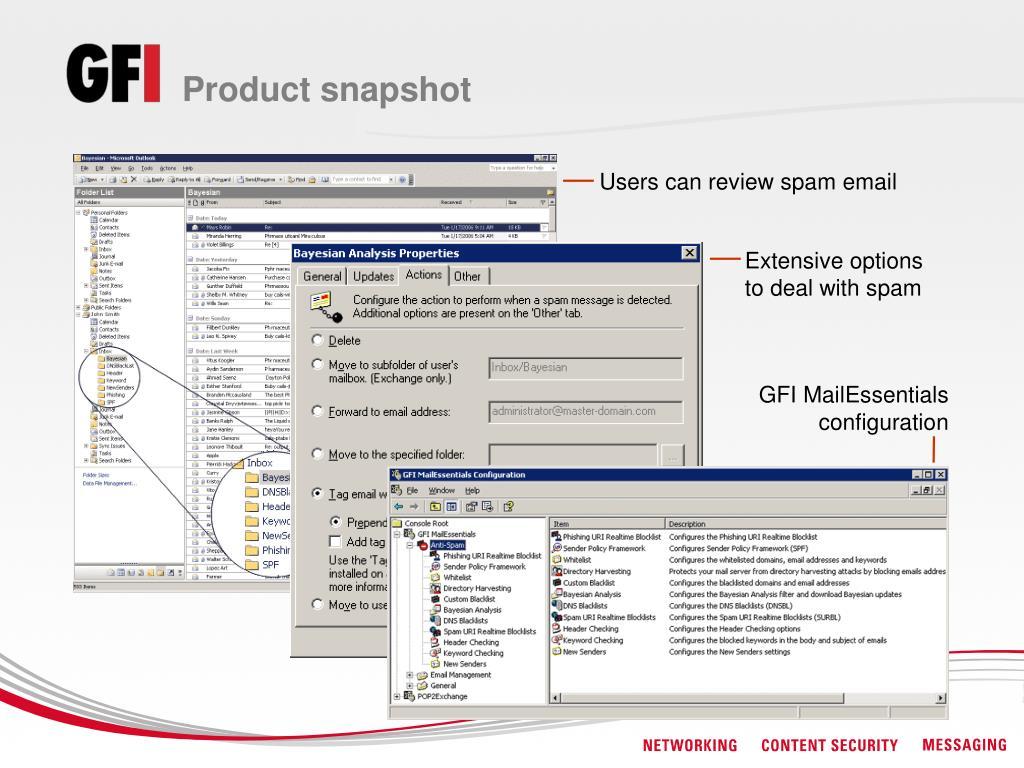 Product snapshot