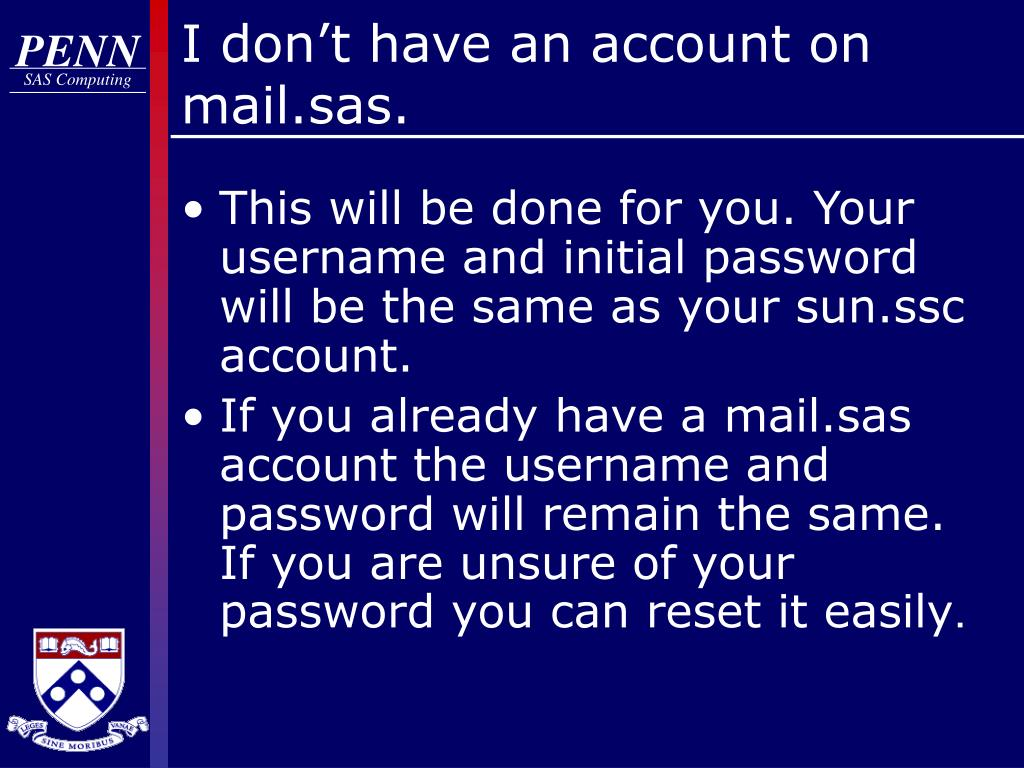 I don't have an account on mail.sas.