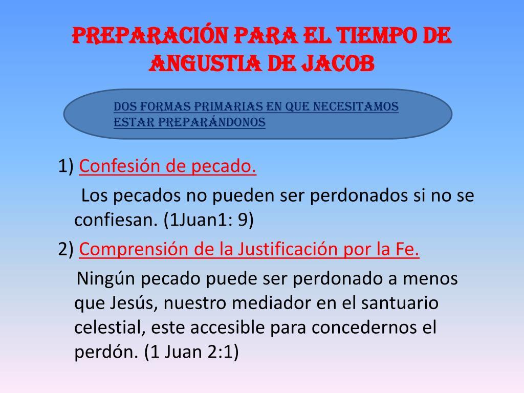 Preparación para el tiempo de Angustia de Jacob