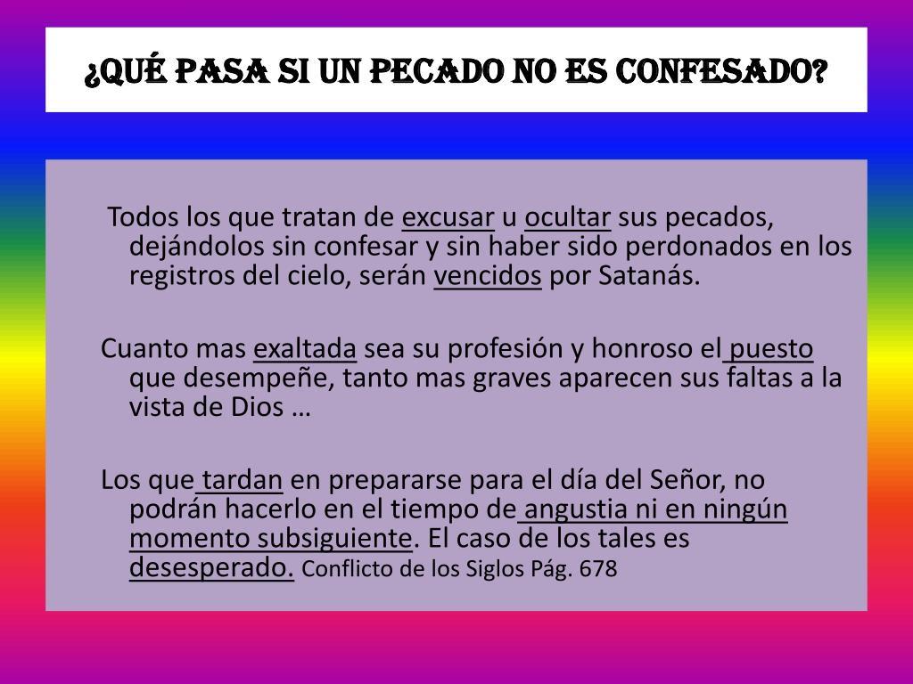 ¿Qué pasa si un pecado no es confesado?