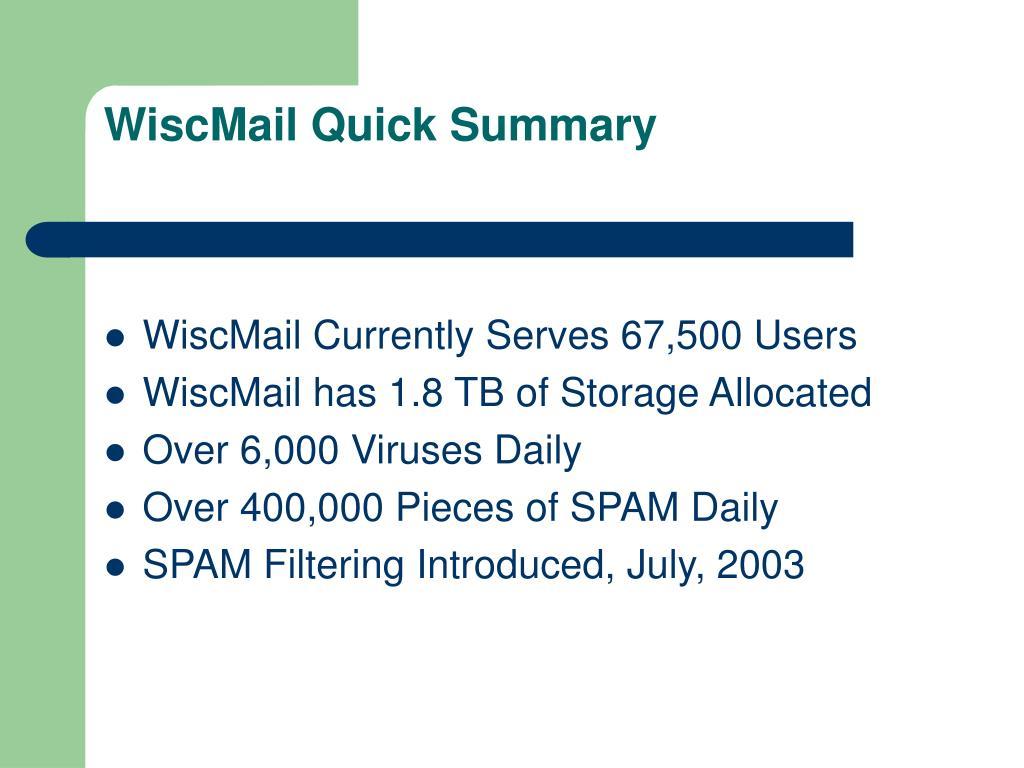 WiscMail Quick Summary