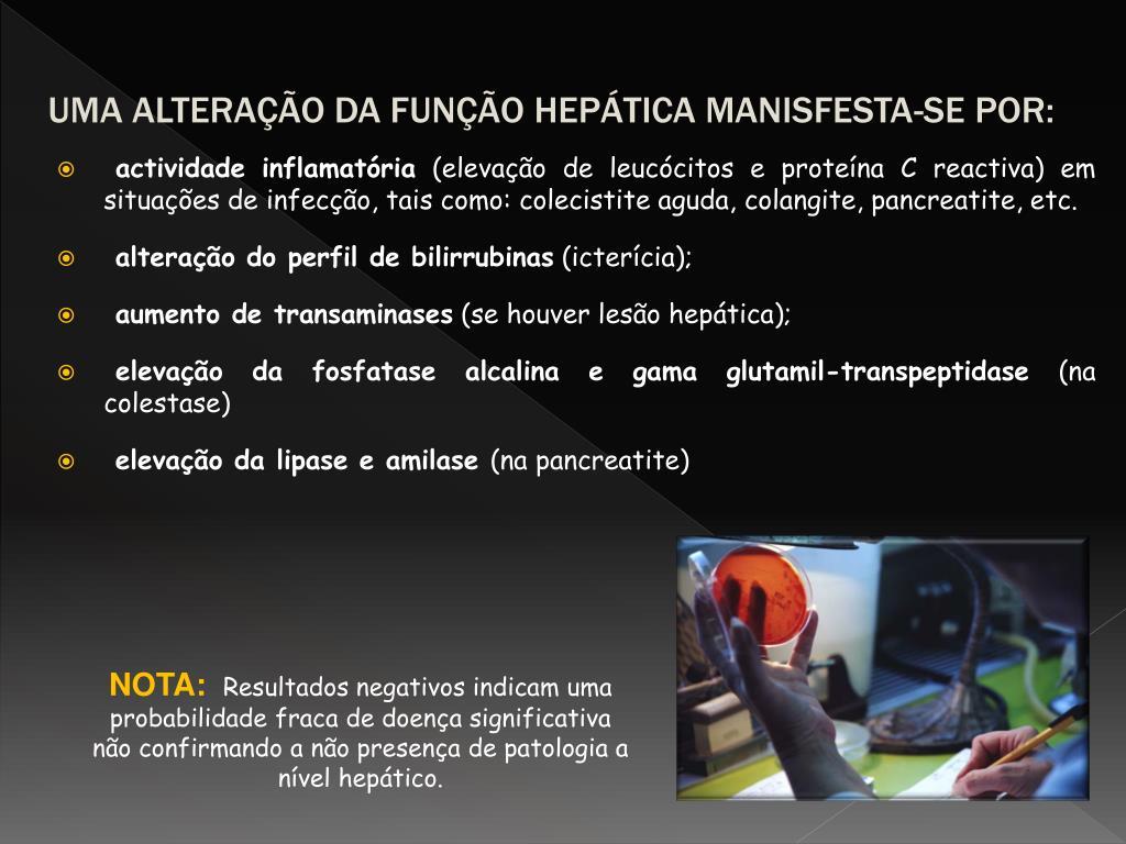 UMA ALTERAÇÃO DA FUNÇÃO HEPÁTICA MANISFESTA-SE POR: