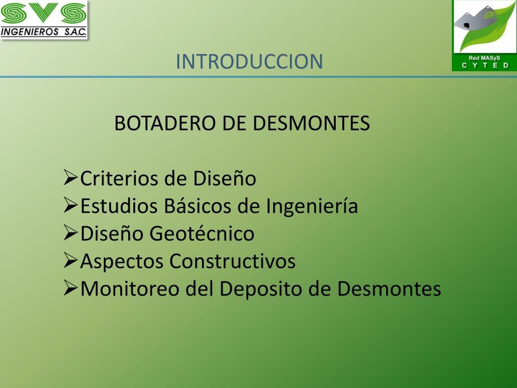 BOTADERO DE DESMONTES