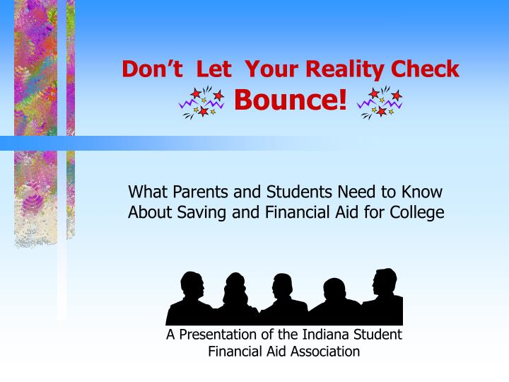 Don t let your reality check bounce