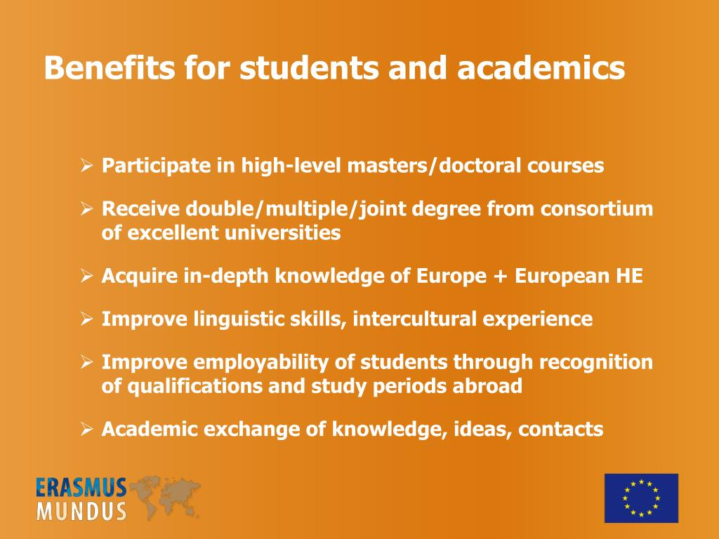 Benefits for students and academics