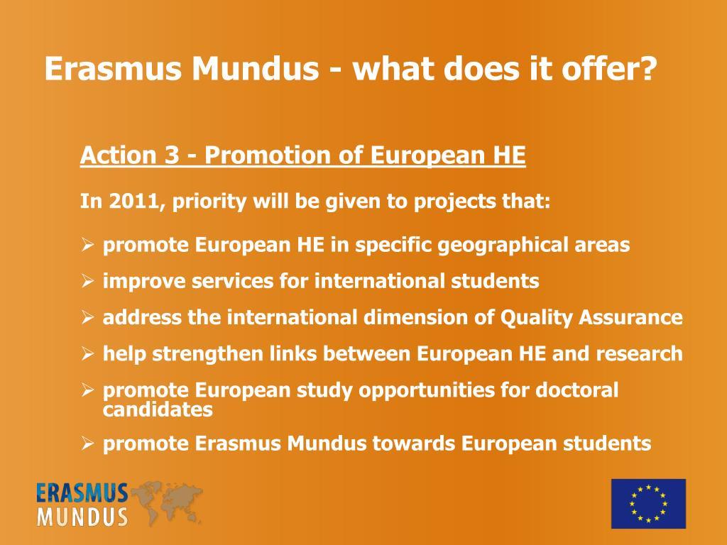 Erasmus Mundus - what does it offer?